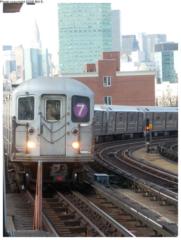 (166k, 619x819)<br><b>Country:</b> United States<br><b>City:</b> New York<br><b>System:</b> New York City Transit<br><b>Line:</b> IRT Flushing Line<br><b>Location:</b> 33rd Street/Rawson Street <br><b>Route:</b> 7<br><b>Car:</b> R-62A (Bombardier, 1984-1987)   <br><b>Photo by:</b> Bill E.<br><b>Date:</b> 2/19/2008<br><b>Viewed (this week/total):</b> 4 / 785