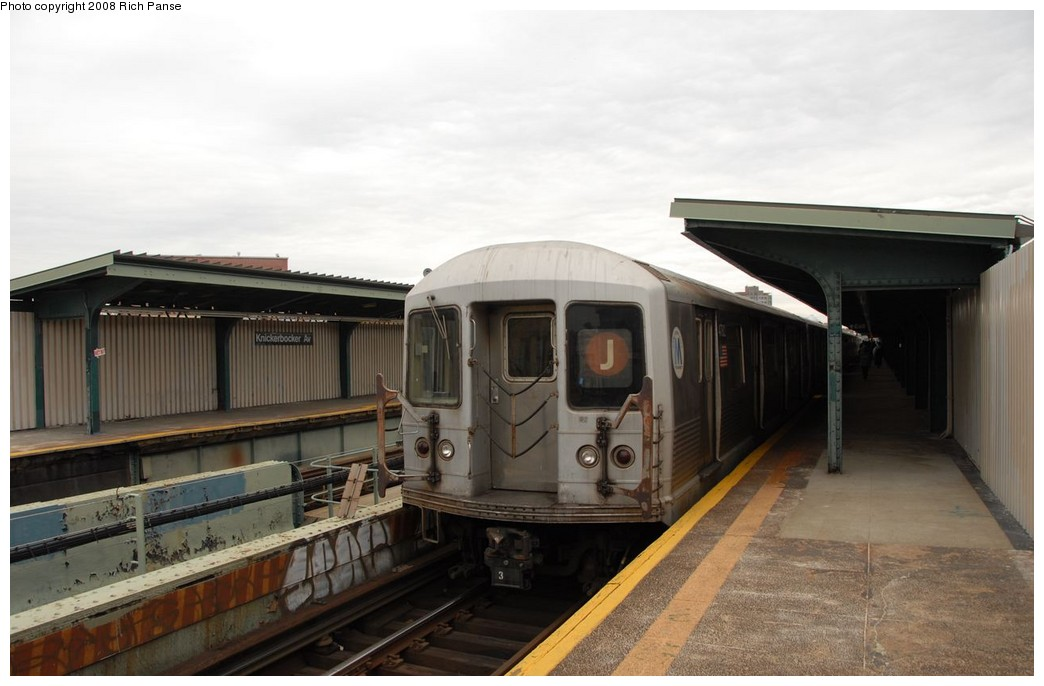 (144k, 1044x686)<br><b>Country:</b> United States<br><b>City:</b> New York<br><b>System:</b> New York City Transit<br><b>Line:</b> BMT Myrtle Avenue Line<br><b>Location:</b> Knickerbocker Avenue <br><b>Route:</b> J reroute.<br><b>Car:</b> R-42 (St. Louis, 1969-1970)  4782 <br><b>Photo by:</b> Richard Panse<br><b>Date:</b> 2/17/2008<br><b>Viewed (this week/total):</b> 1 / 903