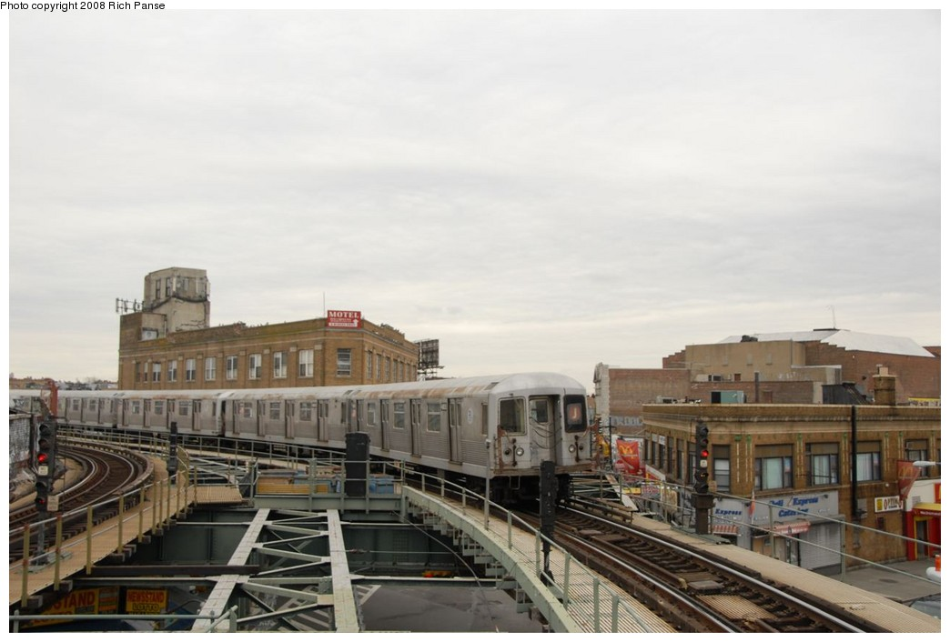 (169k, 1044x706)<br><b>Country:</b> United States<br><b>City:</b> New York<br><b>System:</b> New York City Transit<br><b>Line:</b> BMT Myrtle Avenue Line<br><b>Location:</b> Wyckoff Avenue <br><b>Route:</b> J reroute.<br><b>Car:</b> R-42 (St. Louis, 1969-1970)  4805 <br><b>Photo by:</b> Richard Panse<br><b>Date:</b> 2/17/2008<br><b>Viewed (this week/total):</b> 1 / 2029