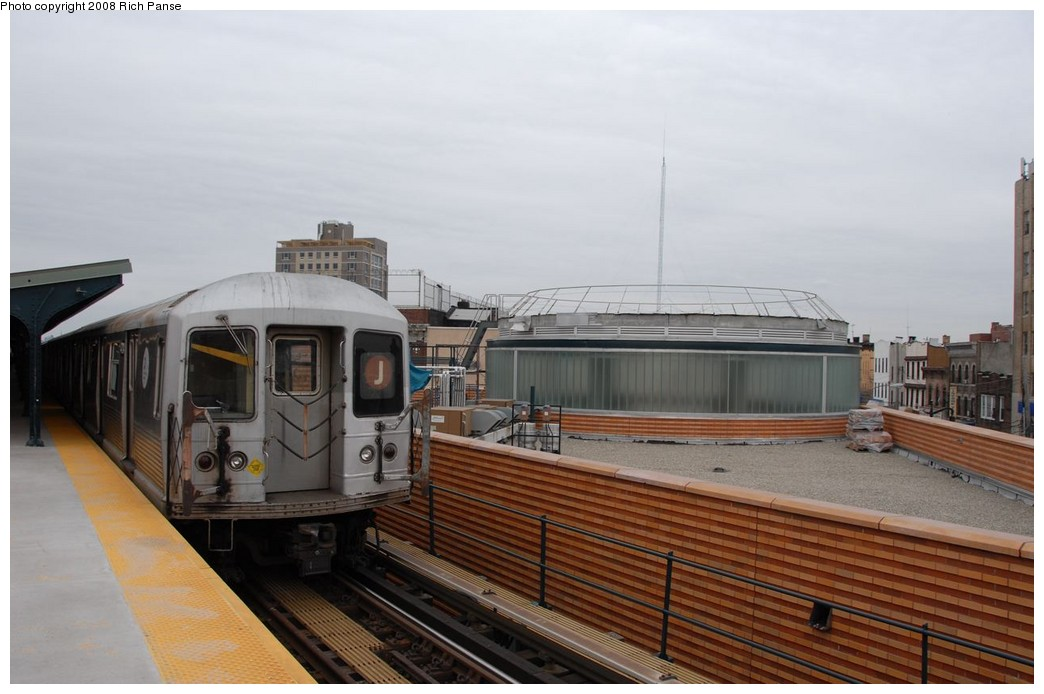 (150k, 1044x694)<br><b>Country:</b> United States<br><b>City:</b> New York<br><b>System:</b> New York City Transit<br><b>Line:</b> BMT Myrtle Avenue Line<br><b>Location:</b> Wyckoff Avenue <br><b>Route:</b> J reroute.<br><b>Car:</b> R-42 (St. Louis, 1969-1970)   <br><b>Photo by:</b> Richard Panse<br><b>Date:</b> 2/17/2008<br><b>Viewed (this week/total):</b> 0 / 936