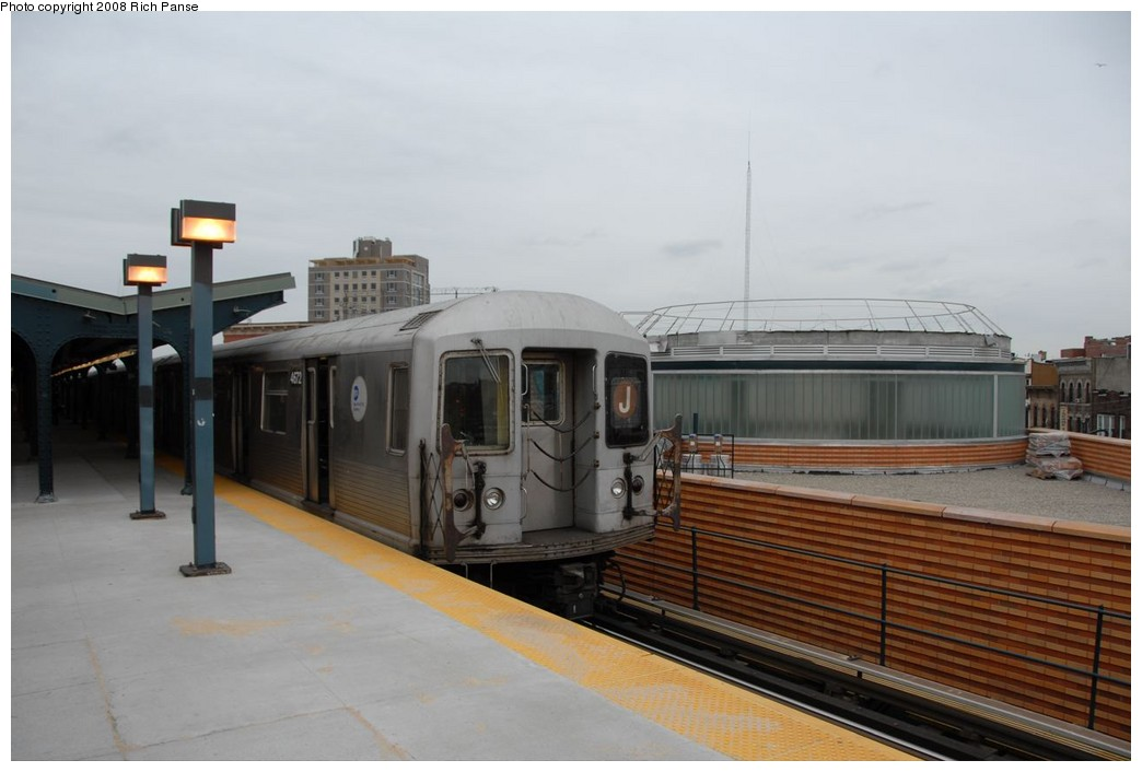 (158k, 1044x706)<br><b>Country:</b> United States<br><b>City:</b> New York<br><b>System:</b> New York City Transit<br><b>Line:</b> BMT Myrtle Avenue Line<br><b>Location:</b> Wyckoff Avenue <br><b>Route:</b> J reroute.<br><b>Car:</b> R-42 (St. Louis, 1969-1970)  4672 <br><b>Photo by:</b> Richard Panse<br><b>Date:</b> 2/17/2008<br><b>Viewed (this week/total):</b> 0 / 1568
