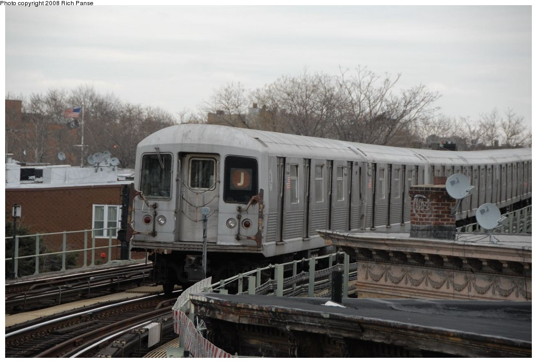 (189k, 1044x706)<br><b>Country:</b> United States<br><b>City:</b> New York<br><b>System:</b> New York City Transit<br><b>Line:</b> BMT Myrtle Avenue Line<br><b>Location:</b> Seneca Avenue <br><b>Route:</b> J reroute.<br><b>Car:</b> R-42 (St. Louis, 1969-1970)  4813 <br><b>Photo by:</b> Richard Panse<br><b>Date:</b> 2/17/2008<br><b>Viewed (this week/total):</b> 4 / 975