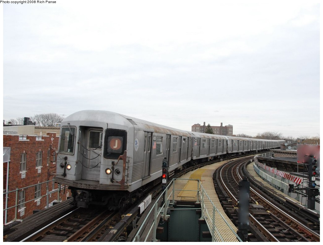 (160k, 1044x792)<br><b>Country:</b> United States<br><b>City:</b> New York<br><b>System:</b> New York City Transit<br><b>Line:</b> BMT Myrtle Avenue Line<br><b>Location:</b> Seneca Avenue <br><b>Route:</b> J reroute.<br><b>Car:</b> R-42 (St. Louis, 1969-1970)  4805 <br><b>Photo by:</b> Richard Panse<br><b>Date:</b> 2/17/2008<br><b>Viewed (this week/total):</b> 1 / 1031