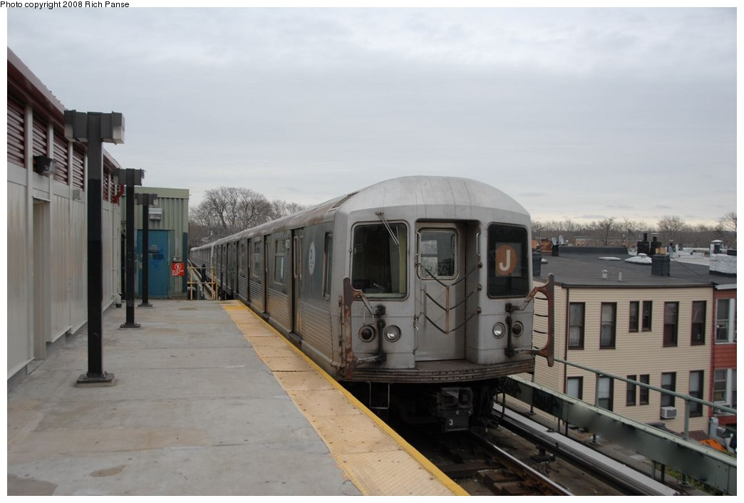 (133k, 1044x706)<br><b>Country:</b> United States<br><b>City:</b> New York<br><b>System:</b> New York City Transit<br><b>Line:</b> BMT Myrtle Avenue Line<br><b>Location:</b> Fresh Pond Road <br><b>Route:</b> J reroute.<br><b>Car:</b> R-42 (St. Louis, 1969-1970)  4670 <br><b>Photo by:</b> Richard Panse<br><b>Date:</b> 2/17/2008<br><b>Viewed (this week/total):</b> 0 / 876