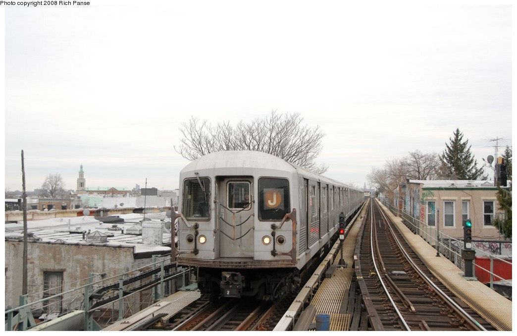 (153k, 1044x678)<br><b>Country:</b> United States<br><b>City:</b> New York<br><b>System:</b> New York City Transit<br><b>Line:</b> BMT Myrtle Avenue Line<br><b>Location:</b> Fresh Pond Road <br><b>Route:</b> J reroute.<br><b>Car:</b> R-42 (St. Louis, 1969-1970)  4623 <br><b>Photo by:</b> Richard Panse<br><b>Date:</b> 2/17/2008<br><b>Viewed (this week/total):</b> 2 / 1603