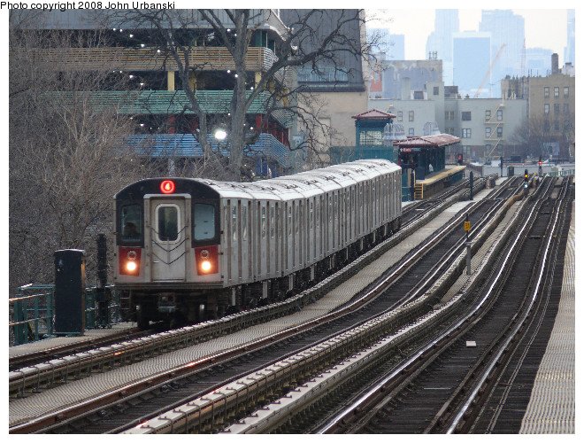 (169k, 660x500)<br><b>Country:</b> United States<br><b>City:</b> New York<br><b>System:</b> New York City Transit<br><b>Line:</b> IRT Woodlawn Line<br><b>Location:</b> Fordham Road <br><b>Route:</b> 4<br><b>Car:</b> R-142 or R-142A (Number Unknown)  <br><b>Photo by:</b> John Urbanski<br><b>Date:</b> 2/19/2008<br><b>Viewed (this week/total):</b> 0 / 2301