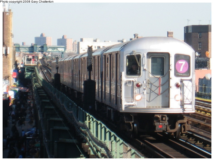 (122k, 820x620)<br><b>Country:</b> United States<br><b>City:</b> New York<br><b>System:</b> New York City Transit<br><b>Line:</b> IRT Flushing Line<br><b>Location:</b> 82nd Street/Jackson Heights <br><b>Route:</b> 7<br><b>Car:</b> R-62A (Bombardier, 1984-1987)  1661 <br><b>Photo by:</b> Gary Chatterton<br><b>Date:</b> 2/14/2008<br><b>Viewed (this week/total):</b> 3 / 856