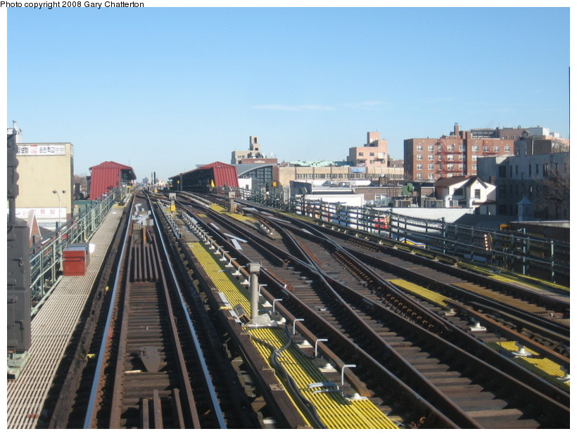 (149k, 820x620)<br><b>Country:</b> United States<br><b>City:</b> New York<br><b>System:</b> New York City Transit<br><b>Line:</b> IRT Flushing Line<br><b>Location:</b> 74th Street/Broadway <br><b>Photo by:</b> Gary Chatterton<br><b>Date:</b> 2/14/2008<br><b>Notes:</b> New Switch Track West of 74 St Station, Express-N/B Local<br><b>Viewed (this week/total):</b> 1 / 716