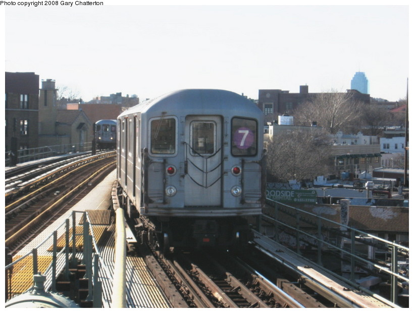 (125k, 820x620)<br><b>Country:</b> United States<br><b>City:</b> New York<br><b>System:</b> New York City Transit<br><b>Line:</b> IRT Flushing Line<br><b>Location:</b> 61st Street/Woodside <br><b>Route:</b> 7<br><b>Car:</b> R-62A (Bombardier, 1984-1987)  2120 <br><b>Photo by:</b> Gary Chatterton<br><b>Date:</b> 2/14/2008<br><b>Viewed (this week/total):</b> 0 / 1256