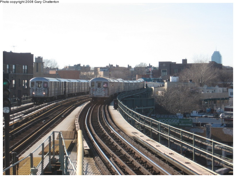 (139k, 820x620)<br><b>Country:</b> United States<br><b>City:</b> New York<br><b>System:</b> New York City Transit<br><b>Line:</b> IRT Flushing Line<br><b>Location:</b> 61st Street/Woodside <br><b>Route:</b> 7<br><b>Car:</b> R-62A (Bombardier, 1984-1987)  1904/2120 <br><b>Photo by:</b> Gary Chatterton<br><b>Date:</b> 2/14/2008<br><b>Viewed (this week/total):</b> 0 / 1516