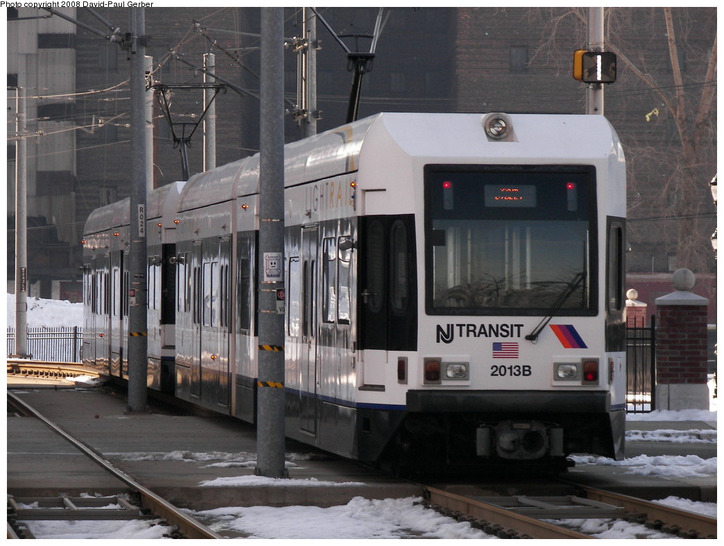 (260k, 1044x788)<br><b>Country:</b> United States<br><b>City:</b> Jersey City, NJ<br><b>System:</b> Hudson Bergen Light Rail<br><b>Location:</b> Harsimus Cove <br><b>Car:</b> NJT-HBLR LRV (Kinki-Sharyo, 1998-99)  2013 <br><b>Photo by:</b> David-Paul Gerber<br><b>Date:</b> 2/25/2008<br><b>Viewed (this week/total):</b> 1 / 683