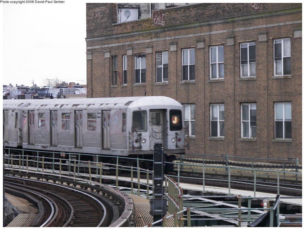 (318k, 1044x788)<br><b>Country:</b> United States<br><b>City:</b> New York<br><b>System:</b> New York City Transit<br><b>Line:</b> BMT Myrtle Avenue Line<br><b>Location:</b> Wyckoff Avenue <br><b>Route:</b> J reroute<br><b>Car:</b> R-42 (St. Louis, 1969-1970)  4748 <br><b>Photo by:</b> David-Paul Gerber<br><b>Date:</b> 2/17/2008<br><b>Viewed (this week/total):</b> 1 / 1448