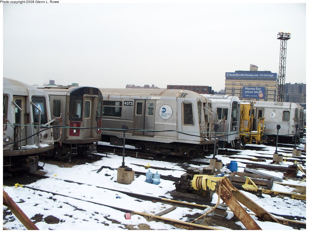 (215k, 1044x788)<br><b>Country:</b> United States<br><b>City:</b> New York<br><b>System:</b> New York City Transit<br><b>Location:</b> 207th Street Yard<br><b>Car:</b> R-40 (St. Louis, 1968)  4373 <br><b>Photo by:</b> Glenn L. Rowe<br><b>Date:</b> 2/26/2008<br><b>Viewed (this week/total):</b> 0 / 1610
