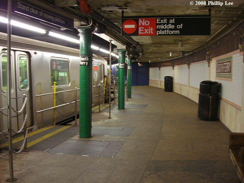 (93k, 800x600)<br><b>Country:</b> United States<br><b>City:</b> New York<br><b>System:</b> New York City Transit<br><b>Line:</b> IRT West Side Line<br><b>Location:</b> South Ferry (Outer Loop Station) <br><b>Route:</b> 1<br><b>Car:</b> R-62A (Bombardier, 1984-1987)  2372 <br><b>Photo by:</b> Phillip Lee<br><b>Date:</b> 1/17/2008<br><b>Viewed (this week/total):</b> 3 / 3121