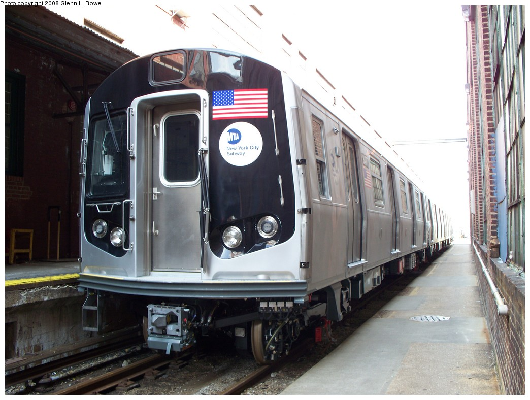 (209k, 1044x788)<br><b>Country:</b> United States<br><b>City:</b> New York<br><b>System:</b> New York City Transit<br><b>Location:</b> 207th Street Yard<br><b>Car:</b> R-160A-1 (Alstom, 2005-2008, 4 car sets)  8477 <br><b>Photo by:</b> Glenn L. Rowe<br><b>Date:</b> 3/3/2008<br><b>Viewed (this week/total):</b> 1 / 1321