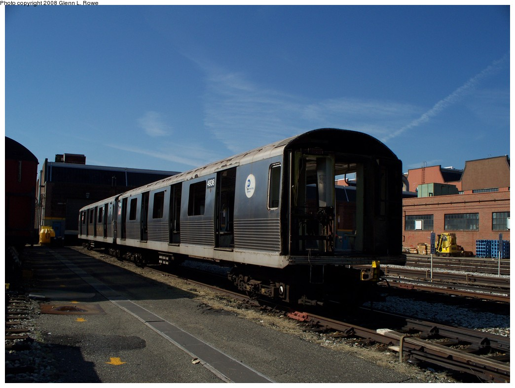 (194k, 1044x788)<br><b>Country:</b> United States<br><b>City:</b> New York<br><b>System:</b> New York City Transit<br><b>Location:</b> 207th Street Yard<br><b>Car:</b> R-42 (St. Louis, 1969-1970)  4936 <br><b>Photo by:</b> Glenn L. Rowe<br><b>Date:</b> 3/6/2008<br><b>Viewed (this week/total):</b> 0 / 730