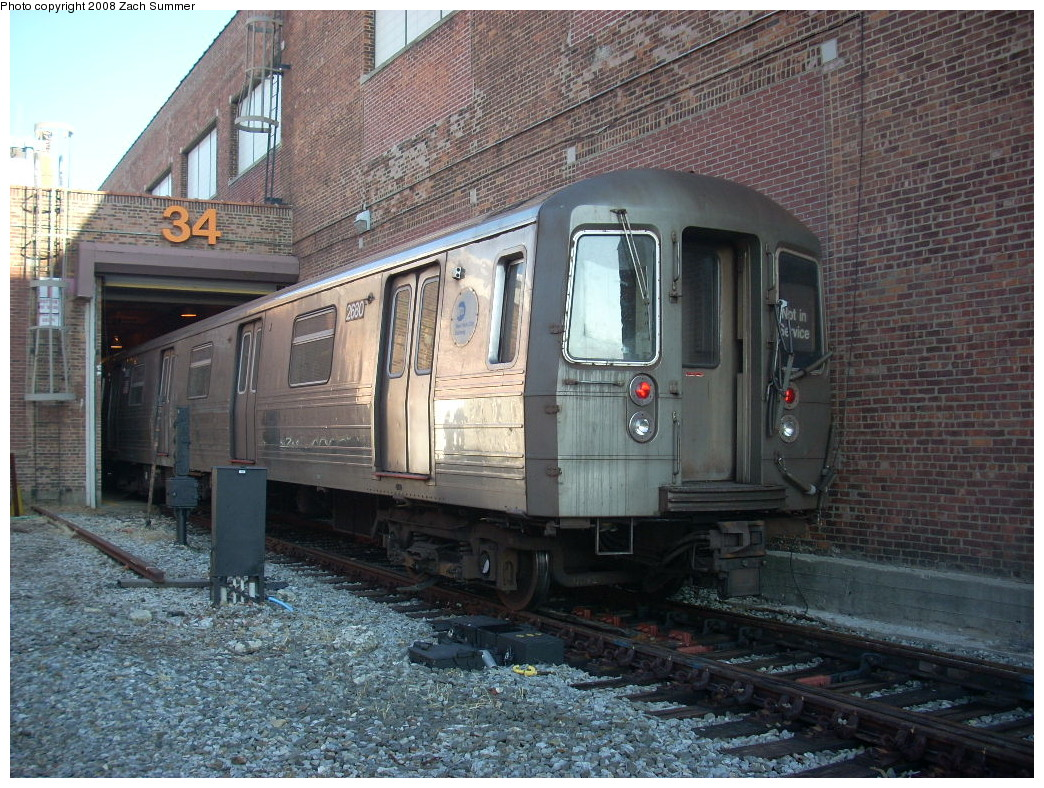 (329k, 1044x788)<br><b>Country:</b> United States<br><b>City:</b> New York<br><b>System:</b> New York City Transit<br><b>Location:</b> Coney Island Yard<br><b>Car:</b> R-68 (Westinghouse-Amrail, 1986-1988)  2680 <br><b>Photo by:</b> Zach Summer<br><b>Date:</b> 12/20/2007<br><b>Viewed (this week/total):</b> 0 / 1783