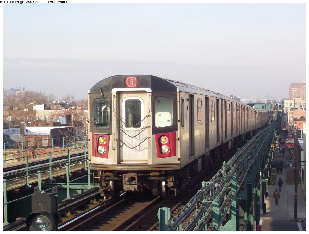 (215k, 1044x791)<br><b>Country:</b> United States<br><b>City:</b> New York<br><b>System:</b> New York City Transit<br><b>Line:</b> IRT Brooklyn Line<br><b>Location:</b> Van Siclen Avenue <br><b>Route:</b> 5<br><b>Car:</b> R-142 (Option Order, Bombardier, 2002-2003)  7010 <br><b>Photo by:</b> Aliandro Brathwaite<br><b>Date:</b> 3/7/2008<br><b>Viewed (this week/total):</b> 0 / 4239