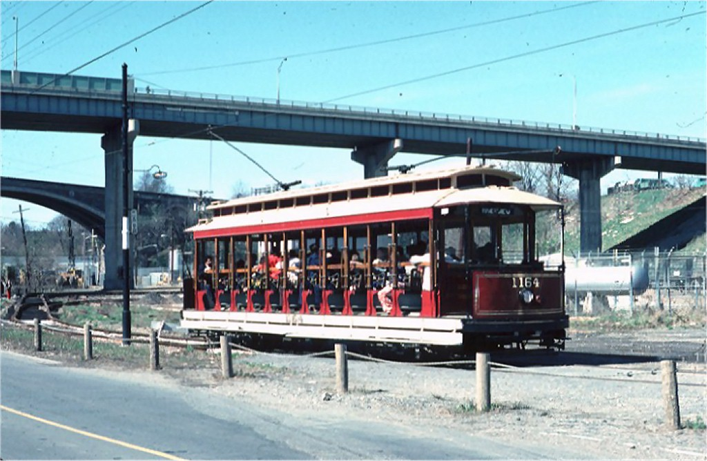 (168k, 1024x668)<br><b>Country:</b> United States<br><b>City:</b> Baltimore, MD<br><b>System:</b> Baltimore Streetcar Museum <br><b>Car:</b>  1164 <br><b>Photo by:</b> Doug Grotjahn<br><b>Collection of:</b> Joe Testagrose<br><b>Date:</b> 3/28/1976<br><b>Viewed (this week/total):</b> 5 / 637