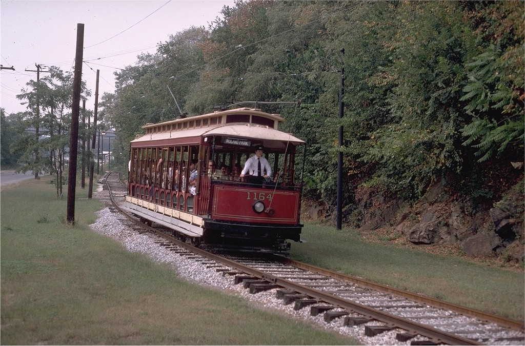 (276k, 1024x675)<br><b>Country:</b> United States<br><b>City:</b> Baltimore, MD<br><b>System:</b> Baltimore Streetcar Museum <br><b>Car:</b>  1164 <br><b>Photo by:</b> Steve Zabel<br><b>Collection of:</b> Joe Testagrose<br><b>Date:</b> 9/14/1980<br><b>Viewed (this week/total):</b> 0 / 755