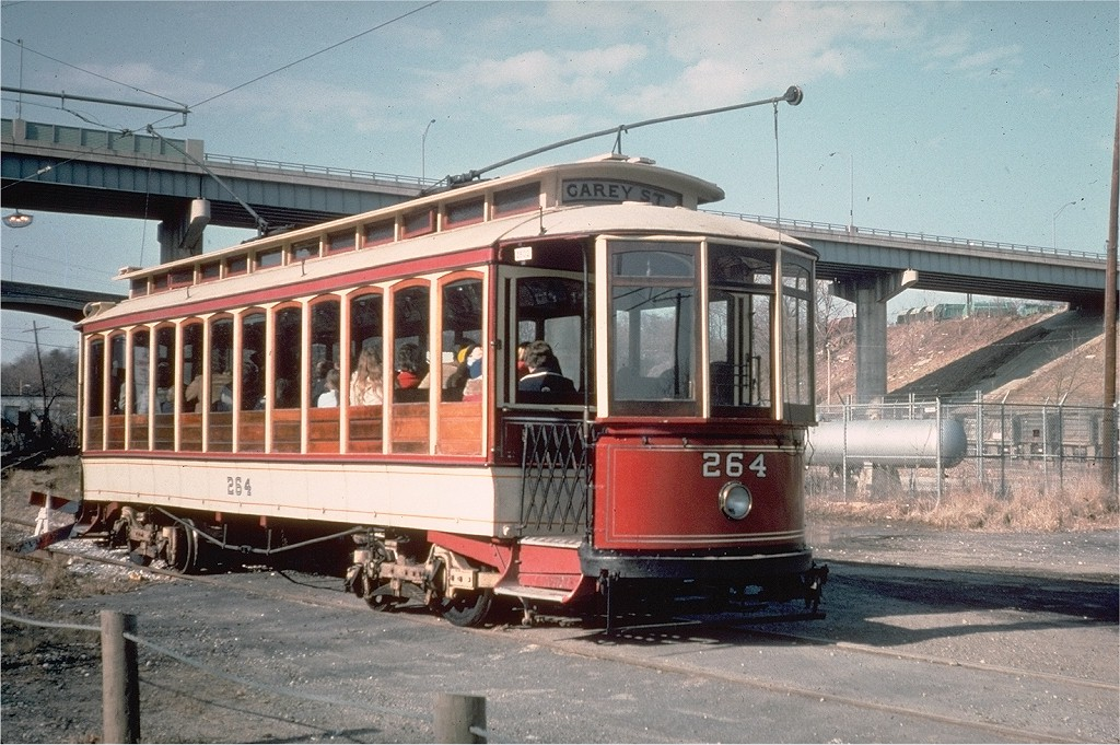 (232k, 1024x681)<br><b>Country:</b> United States<br><b>City:</b> Baltimore, MD<br><b>System:</b> Baltimore Streetcar Museum <br><b>Car:</b>  264 <br><b>Collection of:</b> Joe Testagrose<br><b>Date:</b> 2/1976<br><b>Viewed (this week/total):</b> 0 / 252