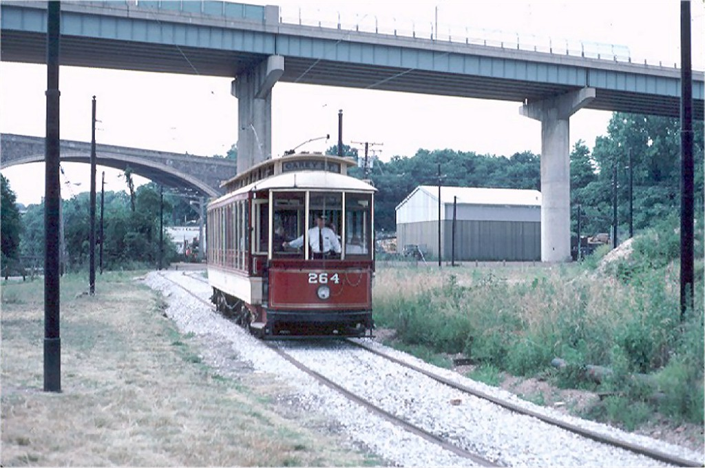 (180k, 1024x679)<br><b>Country:</b> United States<br><b>City:</b> Baltimore, MD<br><b>System:</b> Baltimore Streetcar Museum <br><b>Car:</b>  264 <br><b>Photo by:</b> Steve Zabel<br><b>Collection of:</b> Joe Testagrose<br><b>Date:</b> 6/22/1980<br><b>Viewed (this week/total):</b> 1 / 596
