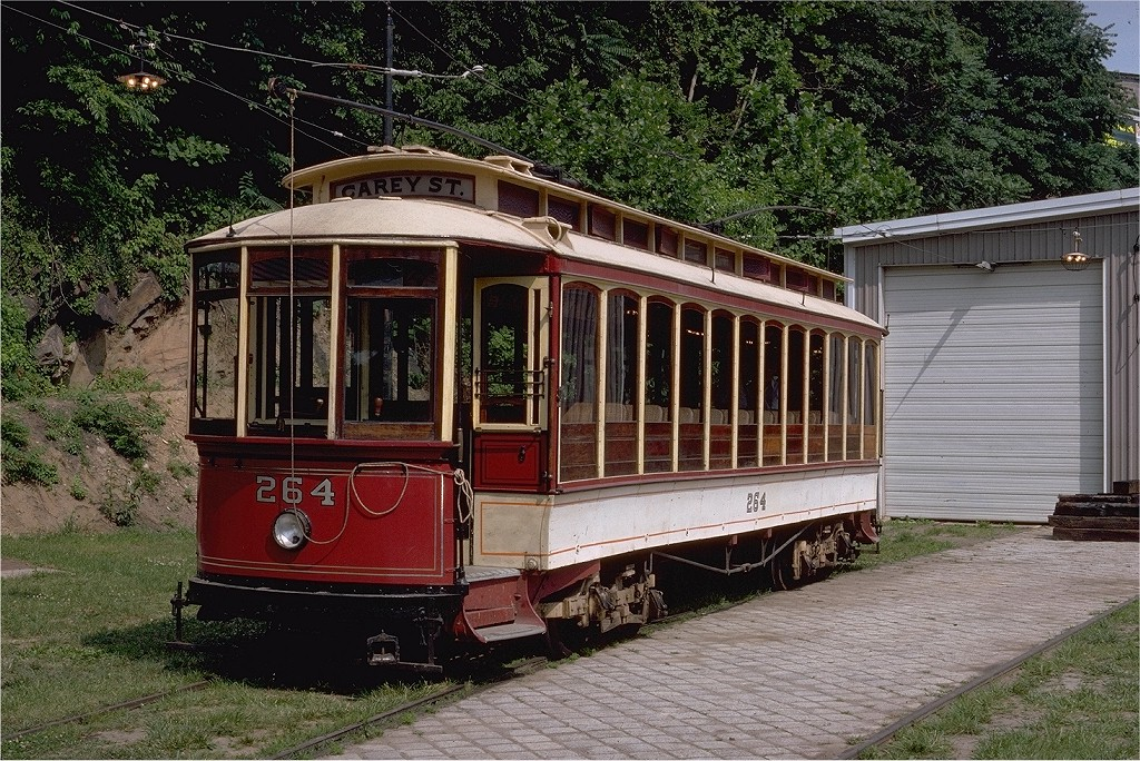(303k, 1024x684)<br><b>Country:</b> United States<br><b>City:</b> Baltimore, MD<br><b>System:</b> Baltimore Streetcar Museum <br><b>Car:</b>  264 <br><b>Photo by:</b> Steve Zabel<br><b>Collection of:</b> Joe Testagrose<br><b>Date:</b> 6/22/1980<br><b>Viewed (this week/total):</b> 0 / 587