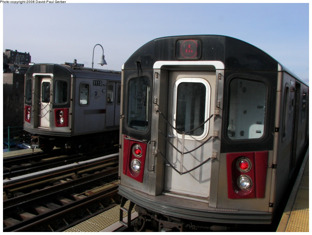 (229k, 1044x788)<br><b>Country:</b> United States<br><b>City:</b> New York<br><b>System:</b> New York City Transit<br><b>Line:</b> IRT Woodlawn Line<br><b>Location:</b> 167th Street <br><b>Route:</b> 4<br><b>Car:</b> R-142 (Option Order, Bombardier, 2002-2003)  1115 <br><b>Photo by:</b> David-Paul Gerber<br><b>Date:</b> 3/15/2008<br><b>Viewed (this week/total):</b> 1 / 2126