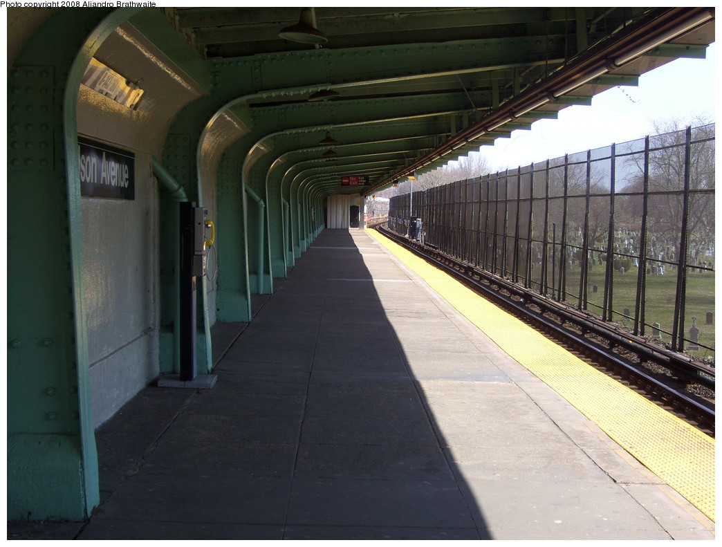 (224k, 1044x791)<br><b>Country:</b> United States<br><b>City:</b> New York<br><b>System:</b> New York City Transit<br><b>Line:</b> BMT Canarsie Line<br><b>Location:</b> Wilson Avenue <br><b>Photo by:</b> Aliandro Brathwaite<br><b>Date:</b> 3/22/2008<br><b>Notes:</b> Platform view.<br><b>Viewed (this week/total):</b> 0 / 1267