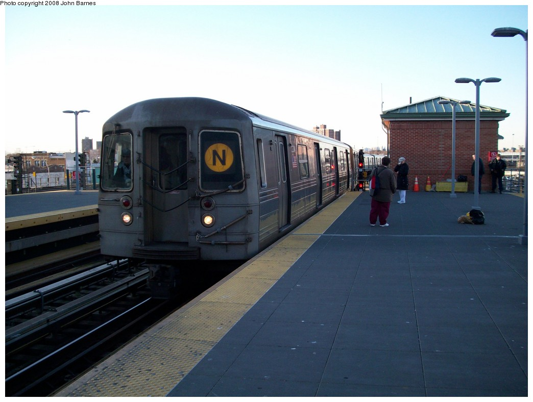 (170k, 1044x788)<br><b>Country:</b> United States<br><b>City:</b> New York<br><b>System:</b> New York City Transit<br><b>Location:</b> Coney Island/Stillwell Avenue<br><b>Route:</b> N<br><b>Car:</b> R-68 (Westinghouse-Amrail, 1986-1988)  2804 <br><b>Photo by:</b> John Barnes<br><b>Date:</b> 3/17/2008<br><b>Viewed (this week/total):</b> 4 / 1252