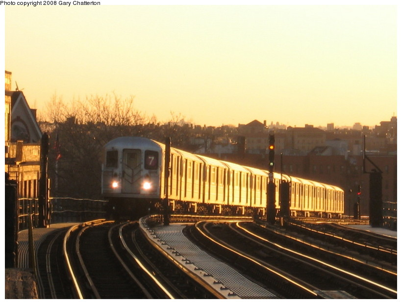 (114k, 820x620)<br><b>Country:</b> United States<br><b>City:</b> New York<br><b>System:</b> New York City Transit<br><b>Line:</b> IRT Flushing Line<br><b>Location:</b> 52nd Street/Lincoln Avenue <br><b>Route:</b> 7<br><b>Car:</b> R-62A (Bombardier, 1984-1987)  1820 <br><b>Photo by:</b> Gary Chatterton<br><b>Date:</b> 3/29/2008<br><b>Viewed (this week/total):</b> 0 / 819