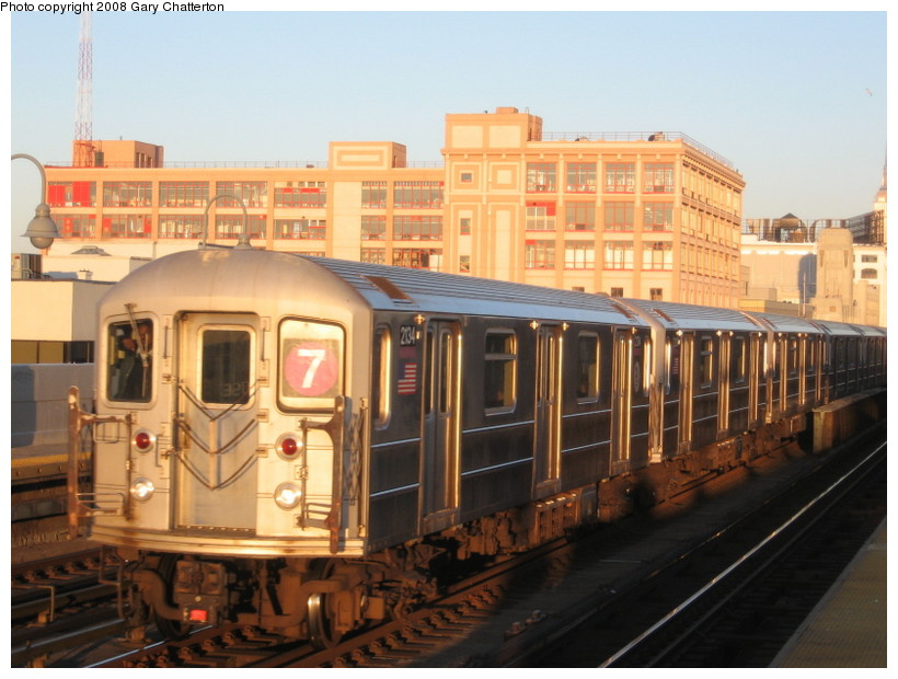 (134k, 820x620)<br><b>Country:</b> United States<br><b>City:</b> New York<br><b>System:</b> New York City Transit<br><b>Line:</b> IRT Flushing Line<br><b>Location:</b> 33rd Street/Rawson Street <br><b>Route:</b> 7<br><b>Car:</b> R-62A (Bombardier, 1984-1987)  2134 <br><b>Photo by:</b> Gary Chatterton<br><b>Date:</b> 3/29/2008<br><b>Viewed (this week/total):</b> 3 / 1277