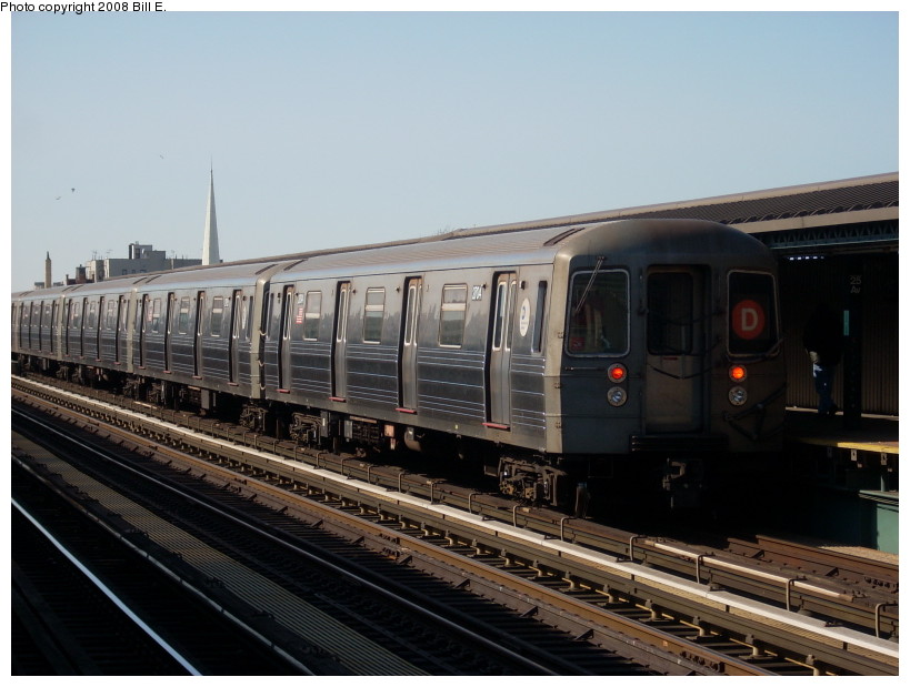 (150k, 819x619)<br><b>Country:</b> United States<br><b>City:</b> New York<br><b>System:</b> New York City Transit<br><b>Line:</b> BMT West End Line<br><b>Location:</b> 25th Avenue <br><b>Route:</b> D<br><b>Car:</b> R-68 (Westinghouse-Amrail, 1986-1988)  2704 <br><b>Photo by:</b> Bill E.<br><b>Date:</b> 3/23/2008<br><b>Viewed (this week/total):</b> 0 / 843