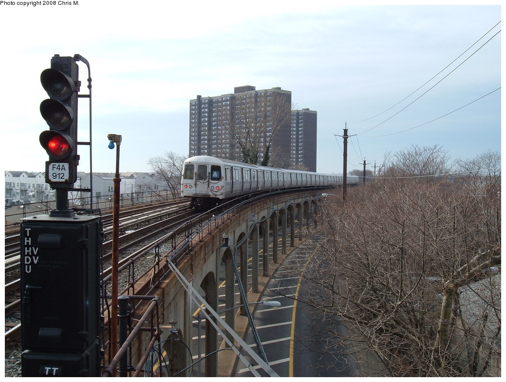 (249k, 1044x788)<br><b>Country:</b> United States<br><b>City:</b> New York<br><b>System:</b> New York City Transit<br><b>Line:</b> IND Rockaway<br><b>Location:</b> Beach 25th Street/Wavecrest <br><b>Route:</b> A<br><b>Car:</b> R-44 (St. Louis, 1971-73)  <br><b>Photo by:</b> Chris M.<br><b>Date:</b> 1/29/2008<br><b>Viewed (this week/total):</b> 0 / 1426