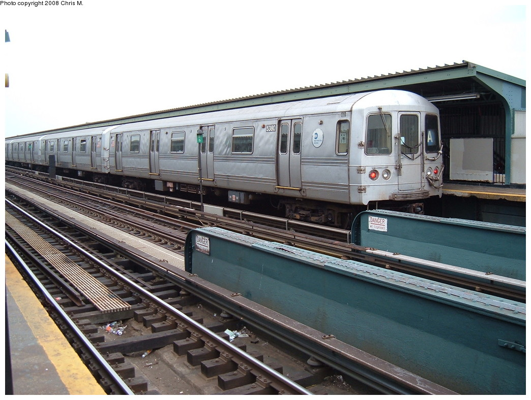 (232k, 1044x788)<br><b>Country:</b> United States<br><b>City:</b> New York<br><b>System:</b> New York City Transit<br><b>Line:</b> IND Fulton Street Line<br><b>Location:</b> Rockaway Boulevard <br><b>Route:</b> A<br><b>Car:</b> R-44 (St. Louis, 1971-73) 5380 <br><b>Photo by:</b> Chris M.<br><b>Date:</b> 1/29/2008<br><b>Viewed (this week/total):</b> 2 / 914