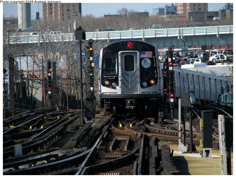 (235k, 820x618)<br><b>Country:</b> United States<br><b>City:</b> New York<br><b>System:</b> New York City Transit<br><b>Location:</b> Coney Island/Stillwell Avenue<br><b>Route:</b> N<br><b>Car:</b> R-160B (Kawasaki, 2005-2008)  8902 <br><b>Photo by:</b> Andrew Johnson<br><b>Date:</b> 4/2/2008<br><b>Viewed (this week/total):</b> 1 / 2144