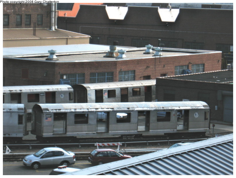 (132k, 820x620)<br><b>Country:</b> United States<br><b>City:</b> New York<br><b>System:</b> New York City Transit<br><b>Location:</b> 207th Street Yard<br><b>Car:</b> R-42 (St. Louis, 1969-1970)  4897/4893/4935 <br><b>Photo by:</b> Gary Chatterton<br><b>Date:</b> 3/11/2008<br><b>Viewed (this week/total):</b> 1 / 1007