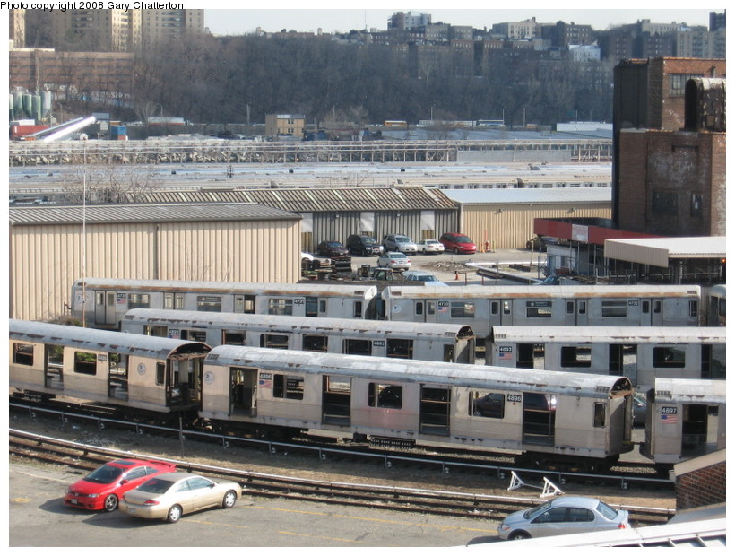 (171k, 820x620)<br><b>Country:</b> United States<br><b>City:</b> New York<br><b>System:</b> New York City Transit<br><b>Location:</b> 207th Street Yard<br><b>Car:</b> R-42 (St. Louis, 1969-1970)  4896 <br><b>Photo by:</b> Gary Chatterton<br><b>Date:</b> 3/11/2008<br><b>Viewed (this week/total):</b> 1 / 808