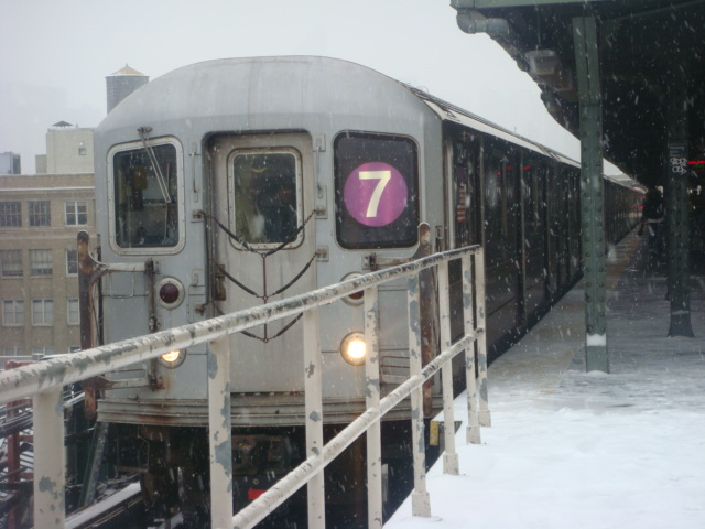 (108k, 640x480)<br><b>Country:</b> United States<br><b>City:</b> New York<br><b>System:</b> New York City Transit<br><b>Line:</b> IRT Flushing Line<br><b>Location:</b> Queensborough Plaza <br><b>Route:</b> 7<br><b>Car:</b> R-62A (Bombardier, 1984-1987)   <br><b>Photo by:</b> Danny Molina<br><b>Date:</b> 2/13/2008<br><b>Viewed (this week/total):</b> 1 / 855