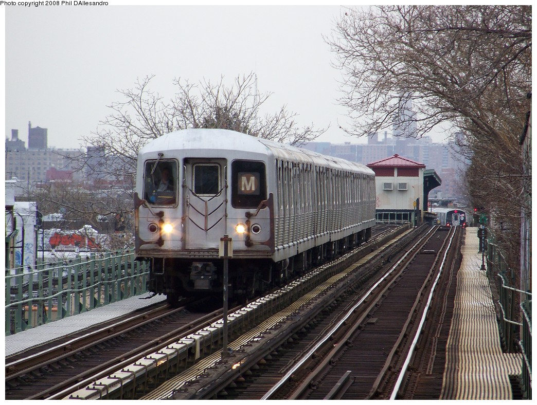 (299k, 1044x788)<br><b>Country:</b> United States<br><b>City:</b> New York<br><b>System:</b> New York City Transit<br><b>Line:</b> BMT Myrtle Avenue Line<br><b>Location:</b> Fresh Pond Road <br><b>Route:</b> M<br><b>Car:</b> R-42 (St. Louis, 1969-1970)  4801 <br><b>Photo by:</b> Philip D'Allesandro<br><b>Date:</b> 4/7/2008<br><b>Viewed (this week/total):</b> 2 / 1209