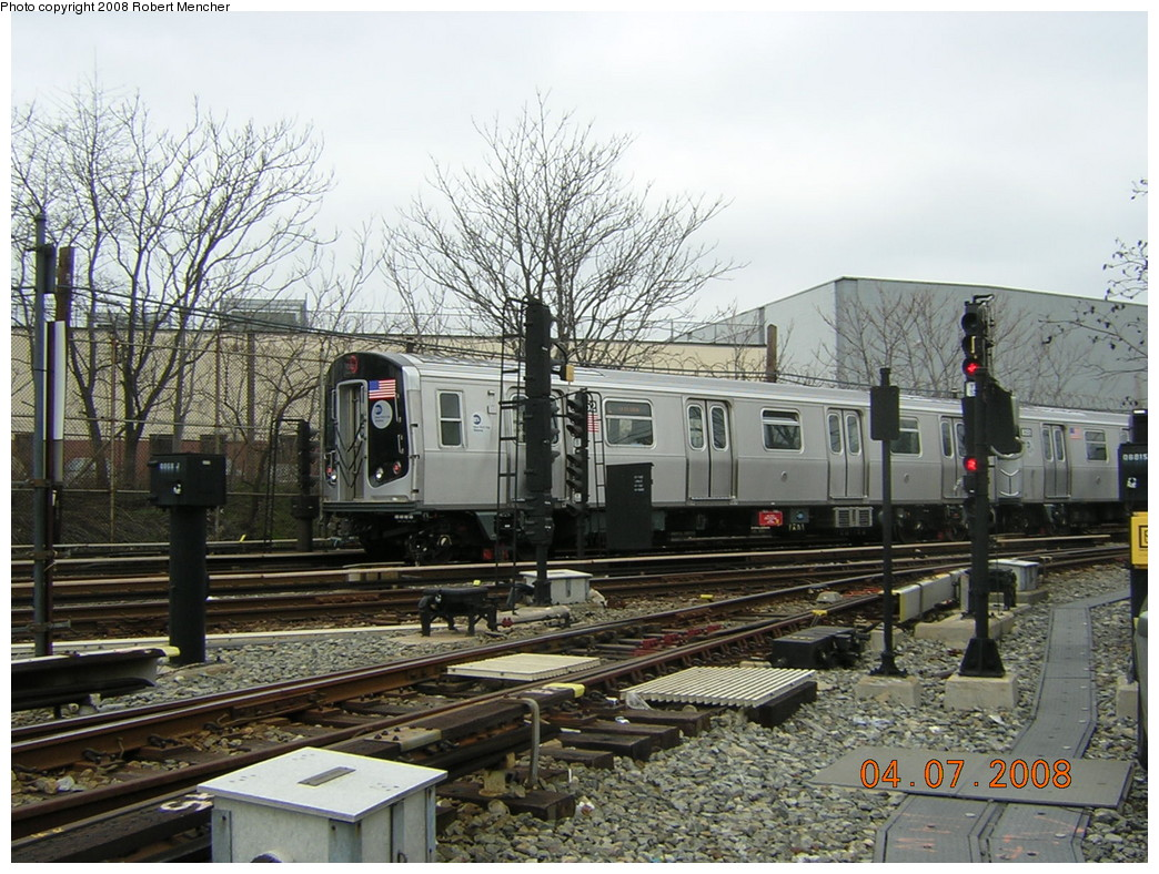 (297k, 1044x788)<br><b>Country:</b> United States<br><b>City:</b> New York<br><b>System:</b> New York City Transit<br><b>Line:</b> BMT Canarsie Line<br><b>Location:</b> Rockaway Parkway <br><b>Car:</b> R-160A-1 (Alstom, 2005-2008, 4 car sets)  8352 <br><b>Photo by:</b> Robert Mencher<br><b>Date:</b> 4/7/2008<br><b>Viewed (this week/total):</b> 6 / 1526