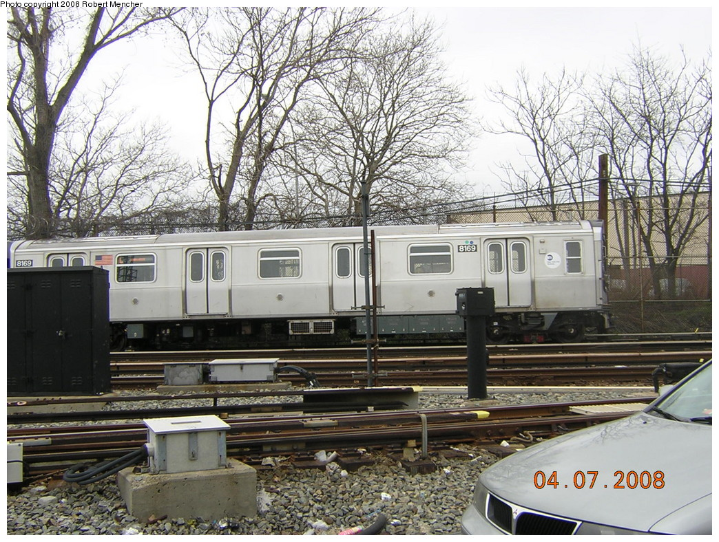 (346k, 1044x788)<br><b>Country:</b> United States<br><b>City:</b> New York<br><b>System:</b> New York City Transit<br><b>Line:</b> BMT Canarsie Line<br><b>Location:</b> Rockaway Parkway <br><b>Car:</b> R-143 (Kawasaki, 2001-2002) 8169 <br><b>Photo by:</b> Robert Mencher<br><b>Date:</b> 4/7/2008<br><b>Viewed (this week/total):</b> 1 / 1545