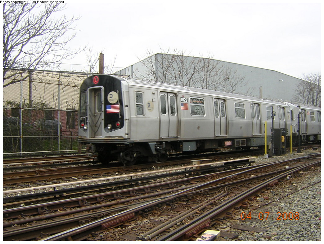 (298k, 1044x788)<br><b>Country:</b> United States<br><b>City:</b> New York<br><b>System:</b> New York City Transit<br><b>Line:</b> BMT Canarsie Line<br><b>Location:</b> Rockaway Parkway <br><b>Car:</b> R-143 (Kawasaki, 2001-2002) 8129 <br><b>Photo by:</b> Robert Mencher<br><b>Date:</b> 4/7/2008<br><b>Viewed (this week/total):</b> 1 / 1173