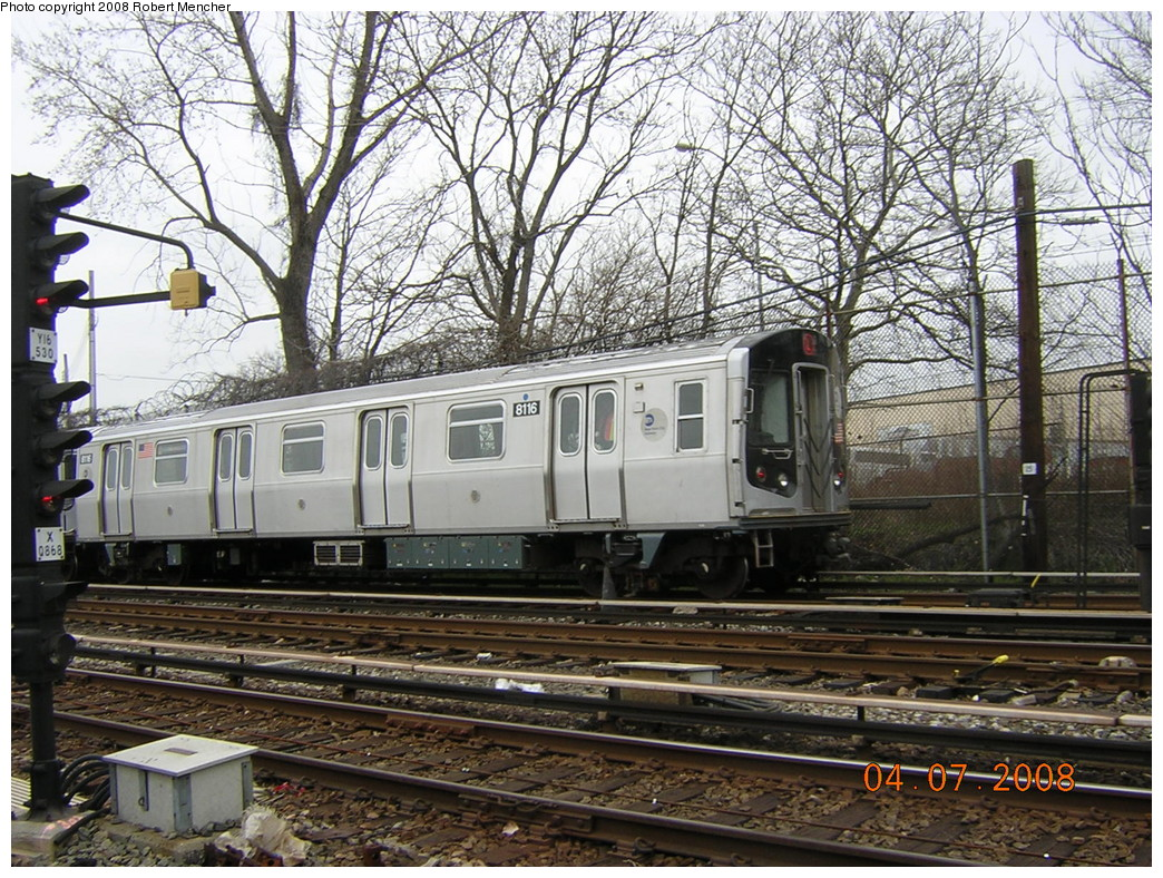 (362k, 1044x788)<br><b>Country:</b> United States<br><b>City:</b> New York<br><b>System:</b> New York City Transit<br><b>Line:</b> BMT Canarsie Line<br><b>Location:</b> Rockaway Parkway <br><b>Car:</b> R-143 (Kawasaki, 2001-2002) 8116 <br><b>Photo by:</b> Robert Mencher<br><b>Date:</b> 4/7/2008<br><b>Viewed (this week/total):</b> 0 / 1023