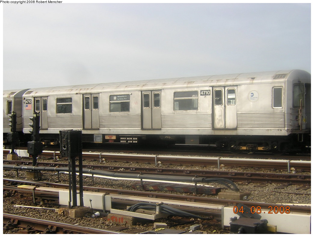 (223k, 1044x788)<br><b>Country:</b> United States<br><b>City:</b> New York<br><b>System:</b> New York City Transit<br><b>Location:</b> Coney Island Yard<br><b>Car:</b> R-42 (St. Louis, 1969-1970)  4710 <br><b>Photo by:</b> Robert Mencher<br><b>Date:</b> 4/8/2008<br><b>Viewed (this week/total):</b> 2 / 1007