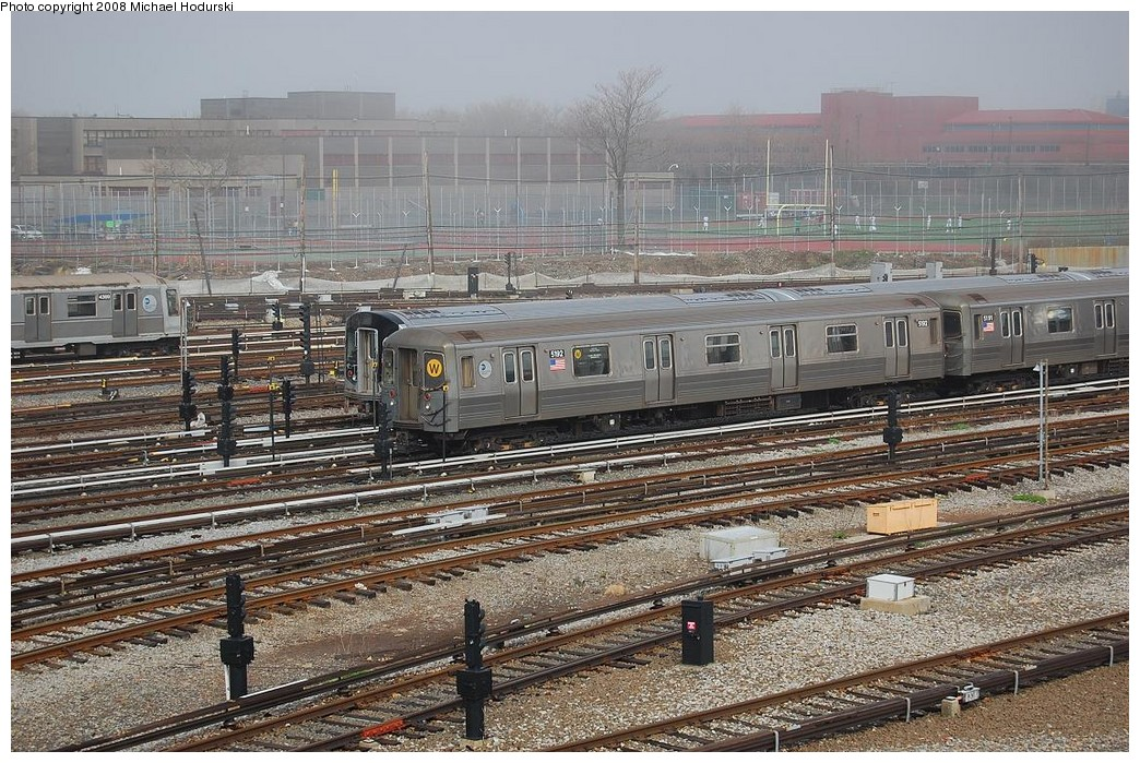 (315k, 1044x699)<br><b>Country:</b> United States<br><b>City:</b> New York<br><b>System:</b> New York City Transit<br><b>Location:</b> Coney Island Yard<br><b>Car:</b> R-68A (Kawasaki, 1988-1989)  5192 <br><b>Photo by:</b> Michael Hodurski<br><b>Date:</b> 4/12/2008<br><b>Viewed (this week/total):</b> 0 / 1126