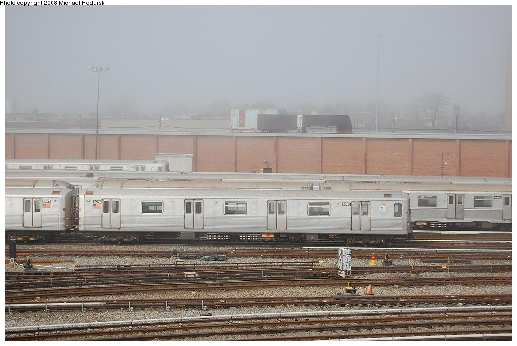 (223k, 1044x699)<br><b>Country:</b> United States<br><b>City:</b> New York<br><b>System:</b> New York City Transit<br><b>Location:</b> Coney Island Yard<br><b>Car:</b> R-46 (Pullman-Standard, 1974-75) 6076 <br><b>Photo by:</b> Michael Hodurski<br><b>Date:</b> 4/12/2008<br><b>Viewed (this week/total):</b> 1 / 771