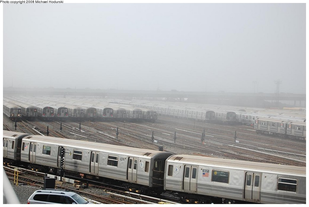 (194k, 1044x699)<br><b>Country:</b> United States<br><b>City:</b> New York<br><b>System:</b> New York City Transit<br><b>Location:</b> Coney Island Yard<br><b>Car:</b> R-68A (Kawasaki, 1988-1989)  5023 <br><b>Photo by:</b> Michael Hodurski<br><b>Date:</b> 4/12/2008<br><b>Viewed (this week/total):</b> 1 / 1539