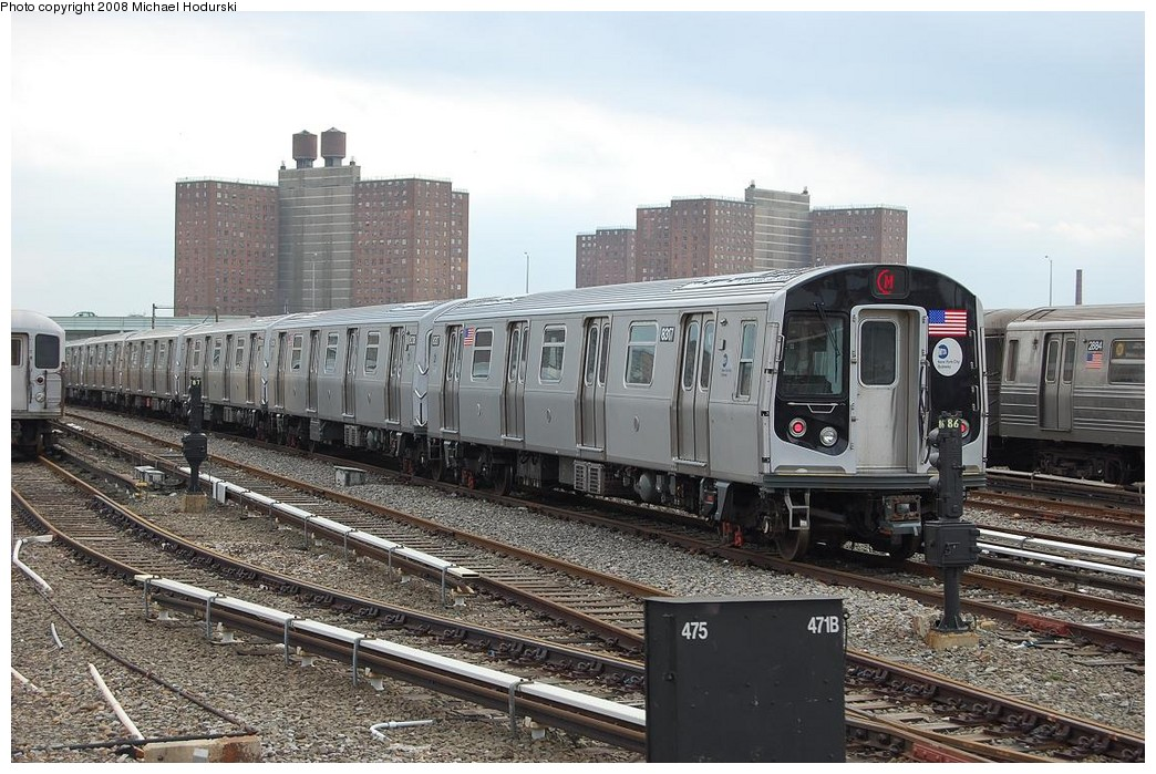 (260k, 1044x699)<br><b>Country:</b> United States<br><b>City:</b> New York<br><b>System:</b> New York City Transit<br><b>Location:</b> Coney Island Yard<br><b>Car:</b> R-160A-1 (Alstom, 2005-2008, 4 car sets)  8317 <br><b>Photo by:</b> Michael Hodurski<br><b>Date:</b> 4/12/2008<br><b>Viewed (this week/total):</b> 4 / 1260