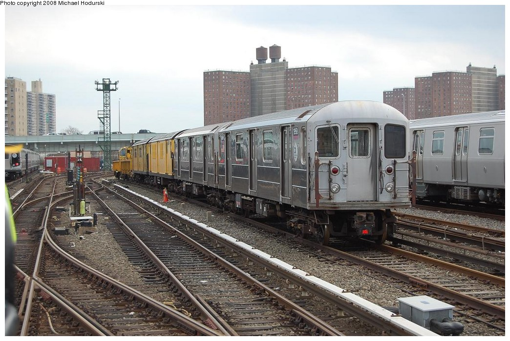 (266k, 1044x699)<br><b>Country:</b> United States<br><b>City:</b> New York<br><b>System:</b> New York City Transit<br><b>Location:</b> Coney Island Yard<br><b>Car:</b> R-62A (Bombardier, 1984-1987)  1958 <br><b>Photo by:</b> Michael Hodurski<br><b>Date:</b> 4/12/2008<br><b>Viewed (this week/total):</b> 3 / 1464